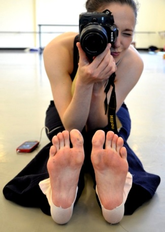 The dancer behind the camera ;)